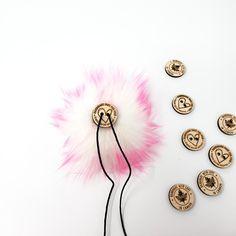 Bubblegum Faux Fur Pom Poms – Warehouse 2020 More Code, Faux Fur Pom Pom, Black Nylons, Bubble Gum, Pom Poms, Bright Pink, Warehouse, Hair Accessories, Detail
