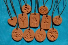 Terra Cotta Pendants for an essential oils diffuser that goes wherever you go