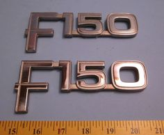 Ford F-150 Factory Chrome Body Emblems