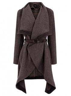 Oasis textured drape coat, £98