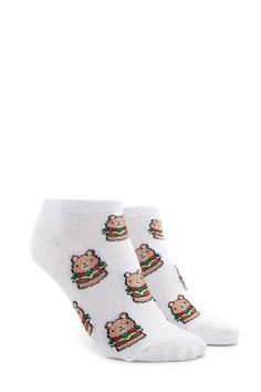 Bear Burger Ankle Socks