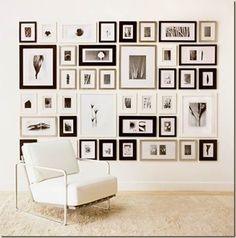 Perfect placement of picture frames, adore this