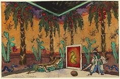 Set design for Petrouchka, Alexandre Benois. c.1920s
