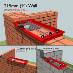 "Bricky Pro - Adjustable to build all standard wall sizes 4"", 6"" & 9"".: Amazon.co.uk: DIY & Tools"