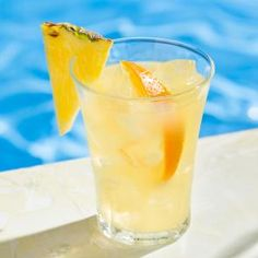 Make a summer cocktail that's tasty year round. With rum, tropical fruits, orange juice and lemonade, our summer punch will take you to the beach! Spiked Punch Recipes, Bourbon Punch Recipe, Rum Cocktail Recipes, Vodka Recipes, Vodka Cocktails, Drink Recipes, Cocktail Drinks, Bbq Drinks, Sangria Recipes