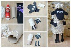 Shaun das Schaf - Das S sunday Eid Crafts, Ramadan Crafts, Fall Crafts, Diy And Crafts, Arts And Crafts, Easter Crafts For Kids, Preschool Crafts, Diy For Kids, Toilet Paper Roll Crafts