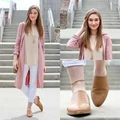 Get this look: http://lb.nu/look/8723811  More looks by Taylor Doucette: http://lb.nu/whenimolder  Items in this look:  Forever 21 Dusty Rose Duster, Wilfred Cream Tank, Old Navy White Denim, Forever 21 Brown Leather Mules   #bohemian #casual #chic #ootd