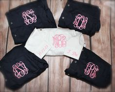 Monogrammed Bride and Bridesmaid Button Up Shirts