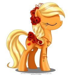 May Festival Pony - Applejack by selinmarsou.deviantart.com on @deviantART