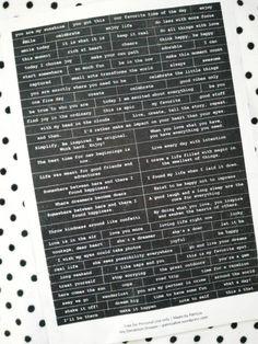 [Free Printable] DIY Words Stickers | My Dandelion Dreams
