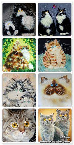 Kim Haskins cat art