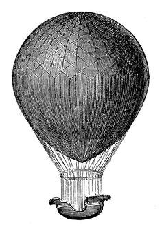 *The Graphics Fairy LLC*: Steampunk Clip Art - Hot Air Balloons