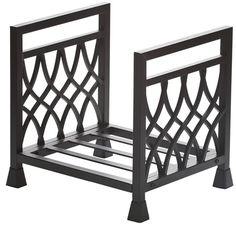 Diamond Wrought Iron Indoor Firewood Rack - Black #LearnShopEnjoy