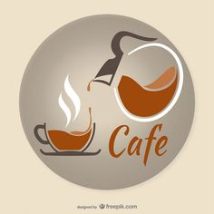 Coffee Cup Vectors, Photos and PSD files Coffee Is Life, I Love Coffee, My Coffee, Coffe Bar, Coffee Logo, Coffee Cafe, Coffee Shop, Logo Café, Cafe Logos