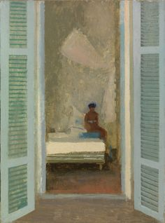 amare-habeo:    Lionel Bulmer (1919-1992) - The Turquoise Shutters, N/D  Oil on board  Messum's, London, UK