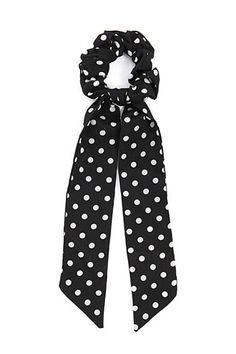 7be44b1848 Polka Dot Print Bow Scrunchie Bow Design, Glam Hair, Hair Accessories For  Women,