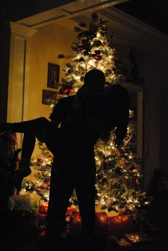 Our first Christmas together <3 could totally do this with the camera on a timer ;)