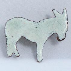 pale grey donkey brooch £7.50