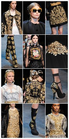 Dolce & Gabana >> Fall 2012 RTW Collection:  Baroque Infusion #KendraScott |Pinned from PinTo for iPad|