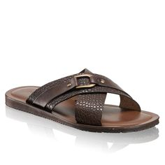 Calf Leather, Leather Men, Brown Leather, Russell & Bromley, Baby Shoe Sizes, Tailored Shorts, Childrens Shoes, Brogues, Slide Sandals