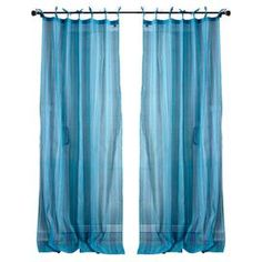 Set a refreshing scene for the new season with this beautiful curtain panel, perfect for invigorating your den, dining room, or master suite d�cor.  Product: Curtain panelConstruction Material: 100% CottonColor: BlueDimensions: 88 H x 44 W Cleaning and Care: Machine wash