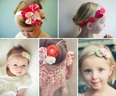 Completely love these super girly headbands! Sad I would wear them and I am 26?