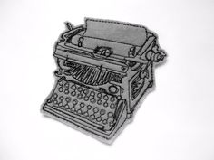 Iron On Patch Typewriter Applique. $5.00, via Etsy.