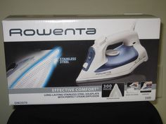 Rowenta Effective Comfort Iron, Stainless Steel Sole Plate, Auto Off, Self Clean #Rowenta