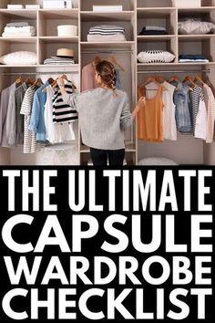 Capsule Wardrobe Essentials, Capsule Wardrobe Casual, Capsule Wardrobe How To Build A, Minimalist Wardrobe Essentials, Minimal Wardrobe, Capsule Outfits, Fashion Capsule, Fashion Essentials, Classic Wardrobe