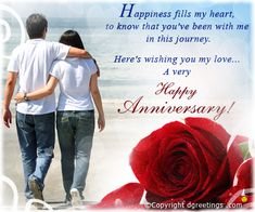 Happy wedding anniversary wishes for son and daughter in law