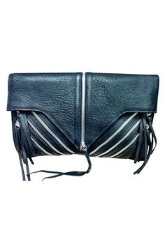 Black zipper bag purse
