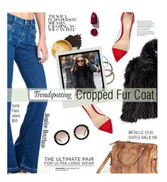 """Cropped Faux Fur Coats"" by seaside-boutique ❤ liked on Polyvore featuring Gianvito Rossi, Gina Bacconi, NARS Cosmetics, Urban Decay, Miu Miu, Melissa, women's clothing, women's fashion, women and female"