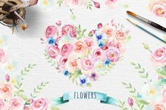 Watercolor boho flowers - Illustrations - 5