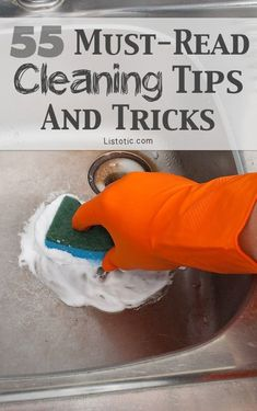 Get some great ideas on how to clean some of the tricky, time consuming things with these tips.