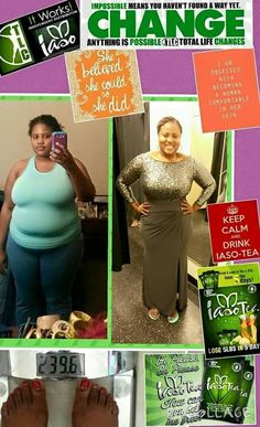 Iaso tea is in high demand for a reason. Because it works!! This young lady went from a size 20 to a size 14 all from sipping iaso tea!! Don't let the delay stop you from getting your own results it's well worth the wait!! Order yours today!!