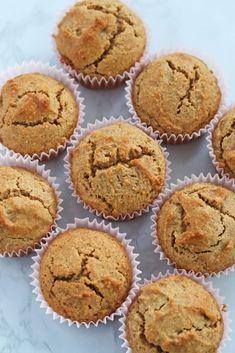 Almond Flour Cinnamon Muffins - Nutritious Minimalist Almond Flour Muffins, Coconut Muffins, Baking With Almond Flour, Cinnamon Muffins, Almond Flour Recipes, Carbquik Recipes, Almond Butter, Coconut Flour, Keto Blueberry Muffins