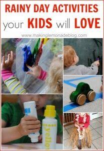 Totful Tuesday: 10 Rainy Day Activities for Kids | Making Lemonade