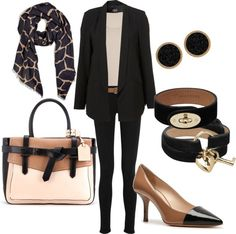 """""""Black and camel"""" by lulums on Polyvore"""