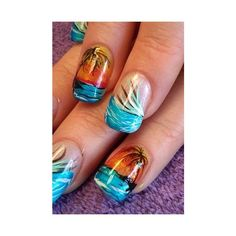 Looking for some ideas for your summer nails? We've got the best selection of ideas and inspiration for your holiday and summer nail designs and nail art Fingernail Designs, Nail Polish Designs, Nail Art Designs, Fabulous Nails, Gorgeous Nails, Pretty Nails, Nail Art Long, Cool Nail Art, Manicure Gel