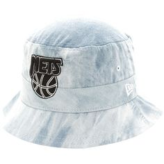 Brooklyn Nets New Era Denim Drop Bucket Hat - Blue - $22.39