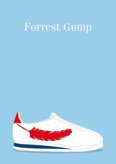 Forrest Gump (1994) ~ Minimal Movie Poster by David Peacock #amusementphile