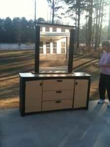 Contemporary Dresser with Mirror - $80 (Temple, GA)