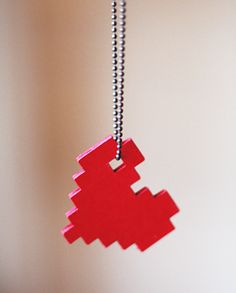DIY pixel heart necklace | How About Orange