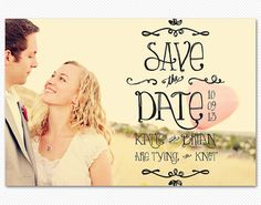 Save The Date Card or Magnet Sunnyside Wedding by cardcandydotcom, (etsy)
