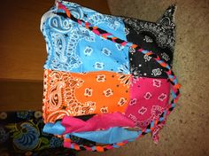 Bandana Bag..I'd probably use the same color bandana for each bag though..