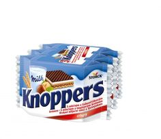Knoppers Oplatky 75g Milk, Chocolate, Chocolates, Brown