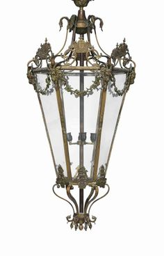 A French bronze hall lantern second half 20th century #lestroisgarcons