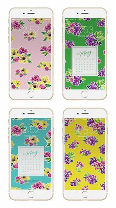 Free Desktop and Mobile Wallpapers from May Designs. The perfect way to keep a beautiful calendar on you at all times.