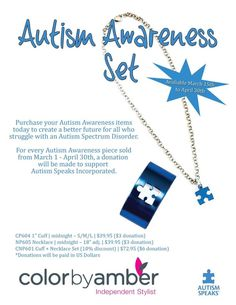 Kudos to head office for coming up with a great set to raise awareness for Autism!  CBA is donating $3 per piece sold to #autismspeaks and I am donating $2 per set sold to Autism awareness of Saskatoon.  Available March 15-April 30th.  Pre-order with me to save shipping aprilcbastylist@sasktel.net  #autism #autismawareness #autismawarenessday