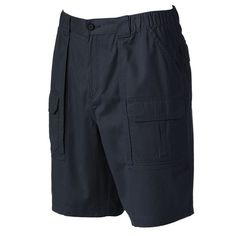 Men's Croft & Barrow® Relaxed-Fit Side-Elastic Cargo Shorts, Size: 38, Blue
